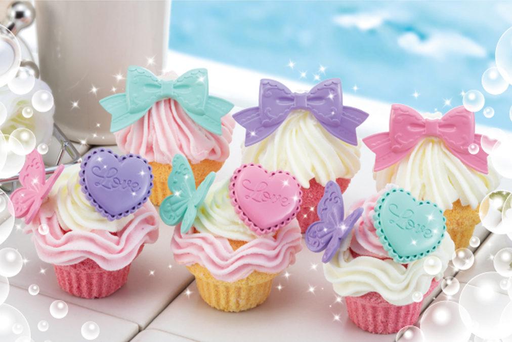 しゅわボムカップケーキ