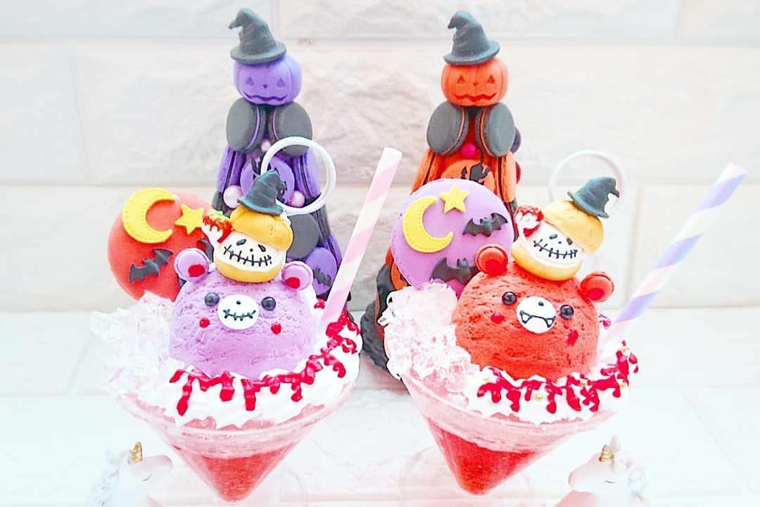 ハロウィン☆くまアイスソーダのフォトスタンド